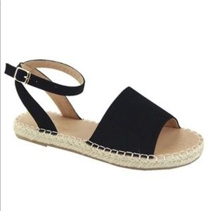 44934306669427 Shoes -   PRICE IS FIRM  Suede espadrille with ankle strap